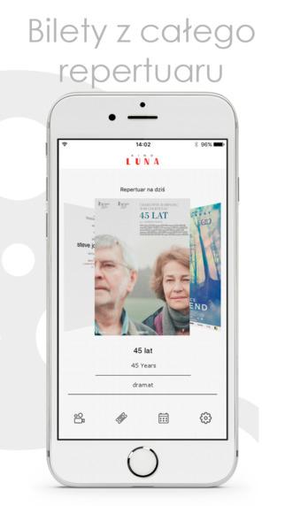 Aplikacja Kino Luna - Bilety