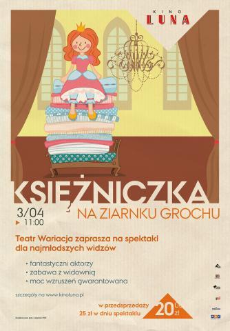 """""""Księżniczka na ziarnku grochu"""" - spektakl Teatru Wariacja dla dzieci"""