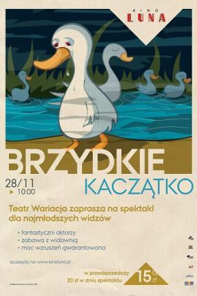 """""""Brzydkie kaczątko"""" - spektakl Teatru Wariacja dla dzieci"""